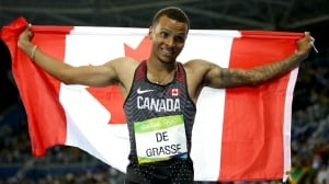 Sprinter Andre De Grasse named IAAF's 2016 Rising Star