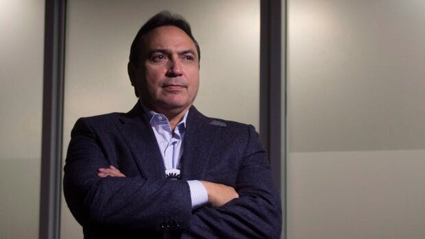 Assembly of First Nations Chief Perry Bellegarde poses for a portrait in Ottawa.  Bellegarde told CBC News chiefs who support pipeline development have been stigmatised by some protesters.