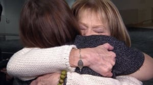 Transplant recipient meets donor family
