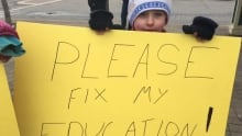 Kentville teachers dispute protest