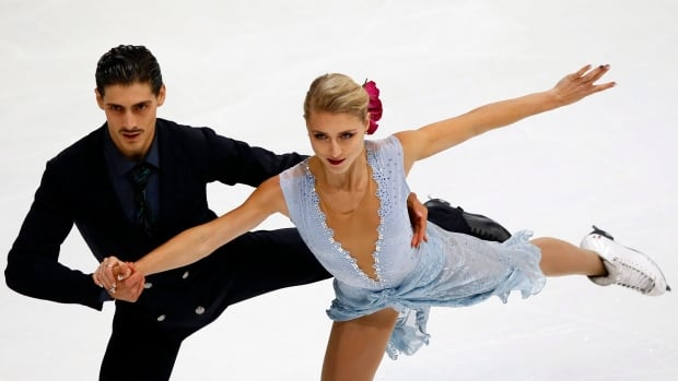 Piper Gilles and Paul Poirier, seen above at a previous event, set a national record in ice dancing with 196.58 points at the Skate Canada Challenge in Montreal on Sunday.