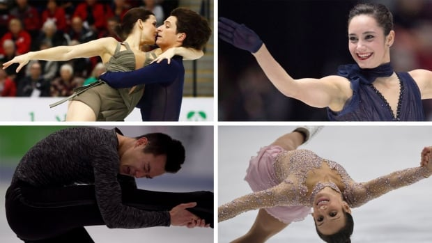 Canada's loaded team for this year's Grand Prix Final features, clockwise from top left, Tessa Virtue and Scott Moir, Kaetlyn Osmond, Meagan Duhamel and Eric Radford, and Patrick Chan. Julianne Seguin and Charlie Bilodeau, not pictured, round out the Canadian contingent.