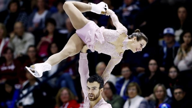 World pairs champions Meagan Duhamel, top, and Eric Radford took home their third consecutive NHK Trophy gold in Sapporo, Japan last week.