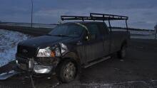 Truck crash near Maidstone, Sask., on Dec. 5, 2016