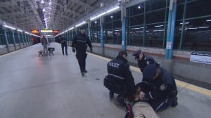 EPS beat officers arrest a man accused of not paying an LRT fare at Belvedere station Friday Dec. 2