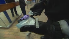 Police seized meth and drug paraphernalia from a man riding the LRT Friday Dec. 2