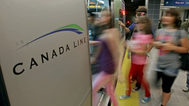 Service between two Canada Line stations is resuming to normal after a brief disruption.