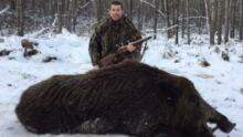 Pat Martin boar St. Brieux Saskatchewan
