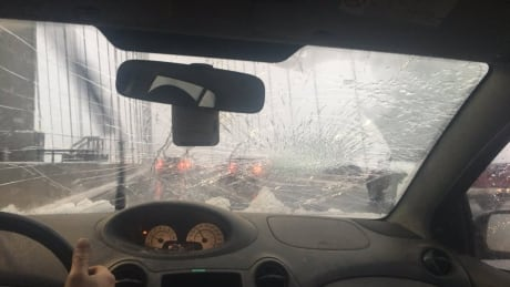 Slush bombs damage cars on Alex Fraser and Port Mann bridges
