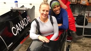 Why Phylicia George jumped into Kaille Humphries' bobsled