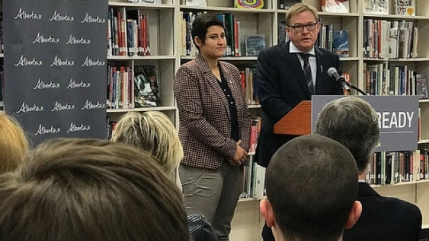 Education Minister David Eggen was at Ardrossan Junior Senior High on Tuesday to announce changes he hopes will improve Alberta students' math abilities.