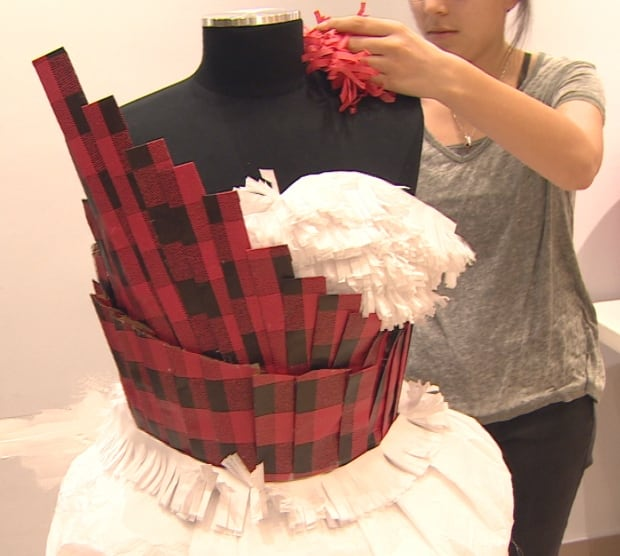 Wrapping paper dress Calgary