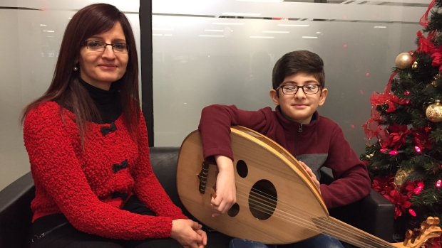 Rana Mustafa wanted a better life for her two children, 10-year-old Anas Mohamad (pictured) and daughter Sana, 17, when she moved from Syria to Saskatoon for a job at the University of Saskatchewan.