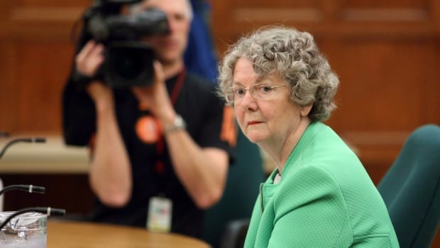Ethics Commissioner Mary Dawson prepares to appear at Commons committee, on Parliament Hill in Ottawa, Tuesday June 10, 2014. Dawson is considering whether to launch an investigation into Prime Minister Justin Trudeau's Christmas vacation on the Aga Khan's private island in the Bahamas.