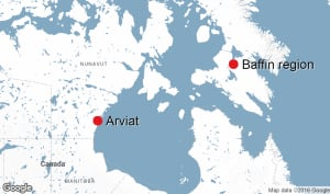arviat and baffin