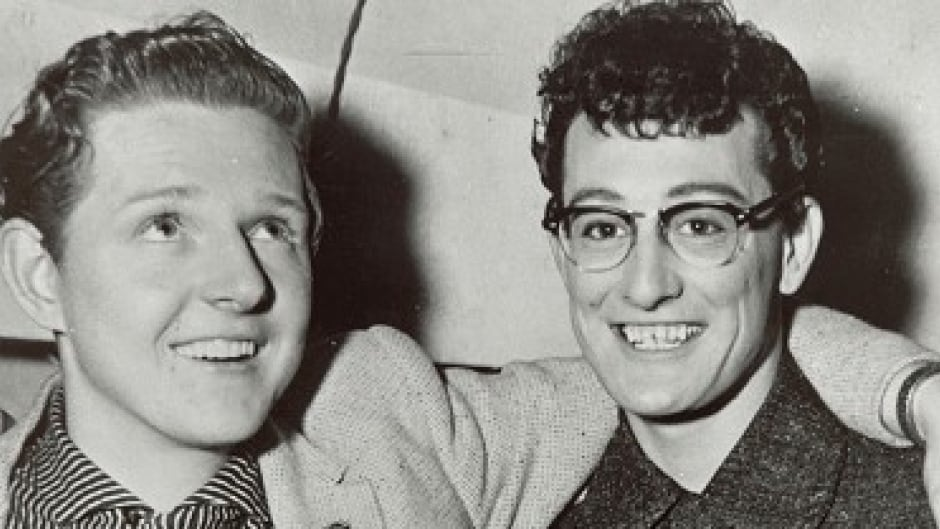 Red Robinson with Buddy Holly