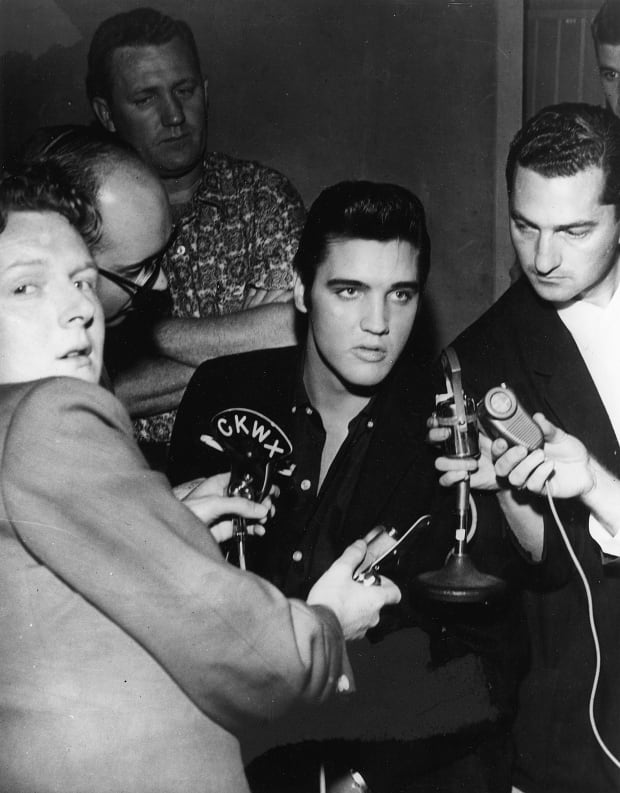 Red Robinson with Elvis Presley