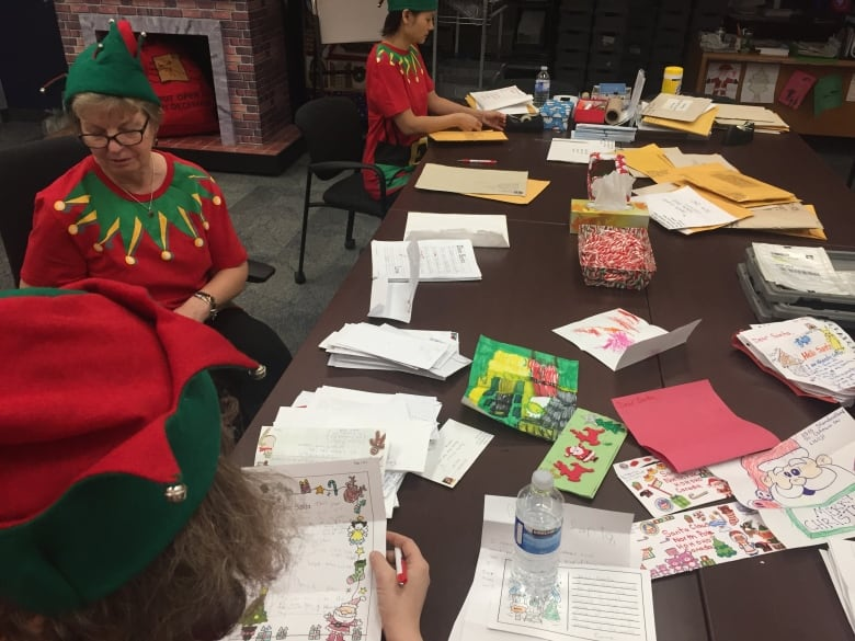 Canada post handling thousands of kids letters to santa cbc news santas helpers read every letter and make sure they all receive a reply from st nick himself amanda grantcbc spiritdancerdesigns Gallery