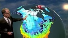 John Sauder explains the cold weather system blowing across the prairies
