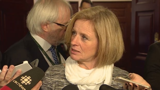 Alberta Premier Rachel Notley defends the government's spending to promote its climate change plan.