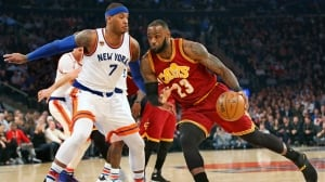 LeBron James leads Cavs past Knicks amid Trump hotel controversy