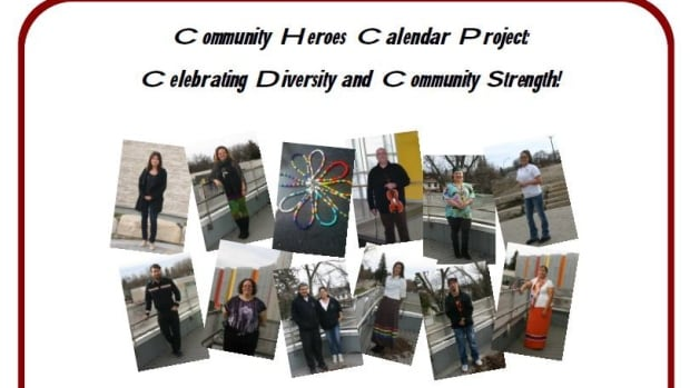 The calendar features students' nominations for community heroes.