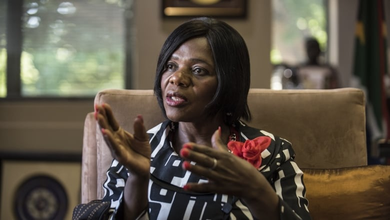 bce70b82bcf South African Public Protector Thuli Madonsela speaks during an interview  with AFP about her fight against corruption
