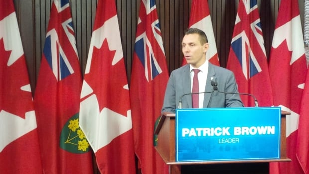Ontario PC leader Patrick Brown at his year-end news conference for 2016.
