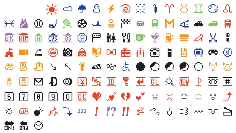 Emoji (original set of 176), released by DoMoCo in 1999.