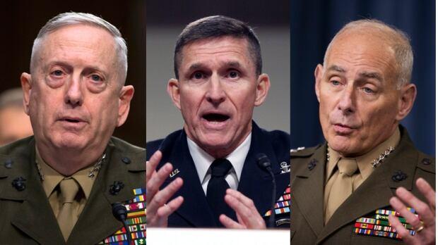 Trump's generals - Kelly, Flynn, Mattis