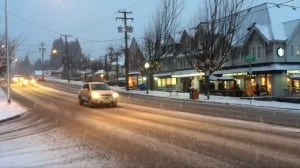 Snowy morning commute in Metro Vancouver and South Coast
