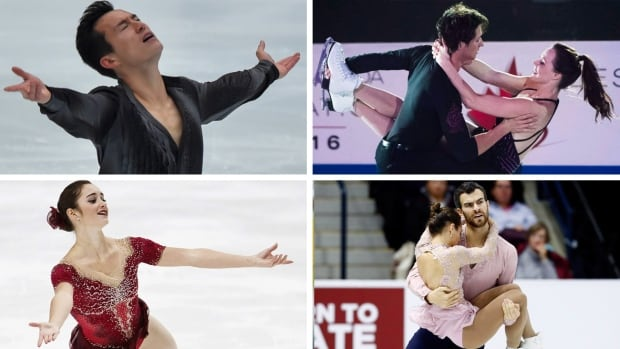 Clockwise from top left: Patrick Chan, Scott Moir and Tessa Virtue, Eric Radford and Meagan Duhamel, along with Kaetlyn Osmond give Canada its deepest-ever figure skating team.