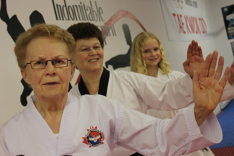 Grandmother aims to be 3rd generation black belt in family | CBC News