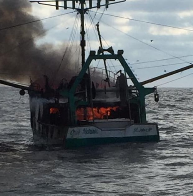 Nearby Vessel Rescues 6 Member Crew After Boat Fire Off