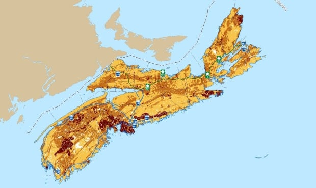 Nova Scotians Urged To Test For Cancercausing Radon Nova Scotia - Nova scotia map