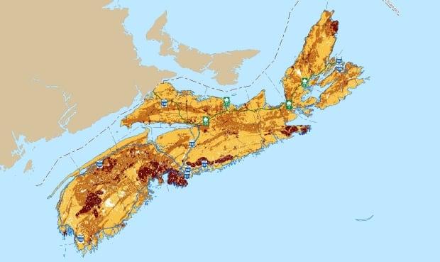 Nova Scotia Radon Risk Map