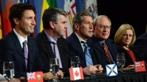 Trudeau announces 'pan-Canadian framework' on climate — but Sask., Manitoba hold off