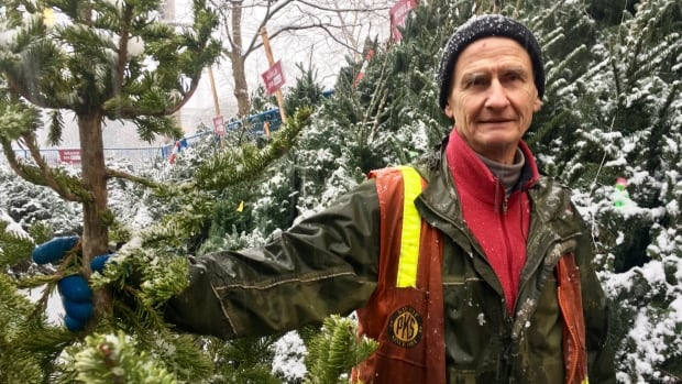 Paul Stewart, the manager of the tree lot in North Vancouver, said he won't let the theft get his spirits down.
