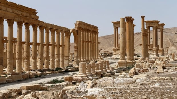 More of the ancient ruins of the historic Syrian city Palmyra have been destroyed including the Tetrapylon. The city's theatre has also been damaged.