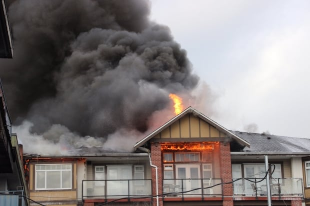 Langley condo fire