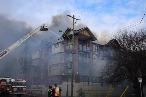 Condo fire at 201a and 56th in Langley BC