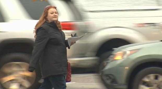Paula Bali walking in Vancouver searching for missing daughter Mekayla Bali