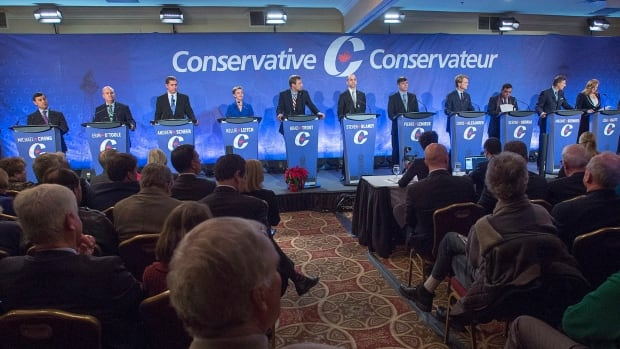 There were 14 contestants in the second Conservative leadership debate, held in Moncton, N.B., on Dec. 6. A new poll of Canadians and Conservative supporters suggests the race has yet to have a front-runner.