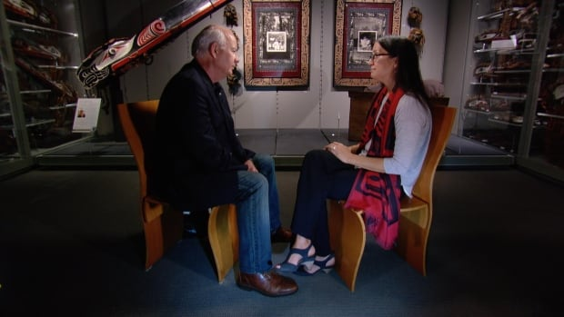 Dr. Nadine Caron with Peter Mansbridge