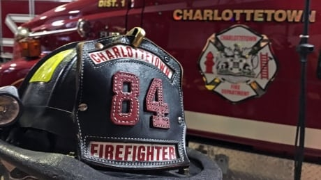 Charlottetown Fire Department hat closeup