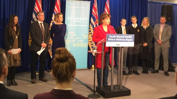 Premier Christy Clark helps launch Foundry Kelowna, a new integrated youth-service centre — one of a series of youth-friendly mental health centres announced by the province in June 2016.