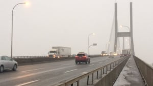 New system aims to clear ice and snow from cables of Alex Fraser Bridge
