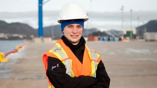 Jane Goddard is a College of the North Atlantic student who is mapping traffic through the port of Corner Brook.