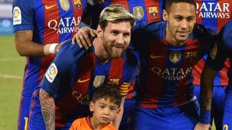 Afghan boy has 'dream' meeting with Lionel Messi