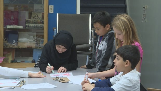 Of the 288 students at Carson Grove Elementary School in Gloucester, 110 are recent refugees whose families fled Syria's civil war.